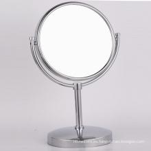 Soporte de mesa de cobre Espejo de afeitar de maquillaje con lupa para baño
