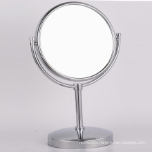 Copper Table Stand Makeup Shaving Mirror with Magnifier for Bathroom