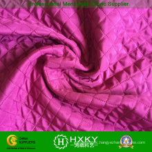 Polyester Quilted Jacket Fabric with Diamond Pattern