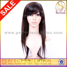 Chinese Silky Straight Human Remy Hair Full Lace Wig Manufacturers