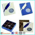 Caixa de Chocolate Branco CardboardWith Clear Window Partition
