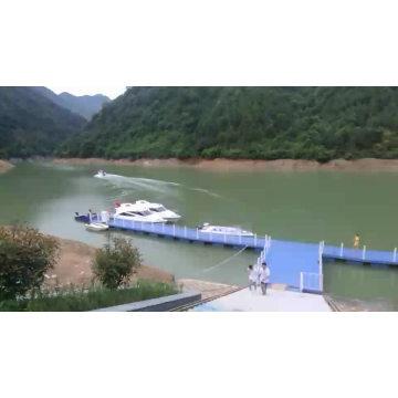 Plastic hdpe float dock modular pontoon