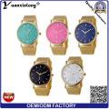 Yxl-642 banda de malla de Ginebra relojes de señora hecho en China precio barato diseño de reloj de marcación de reloj