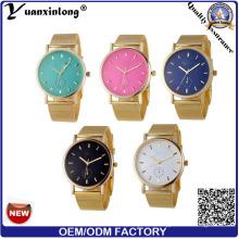 YXL-642 malla banda Geneva relojes Made in China precio barato reloj colorido marcado diseño