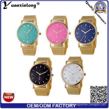 Yxl-642 Mesh Band Geneva Ladies Watches Made in China Cheap Price Colorful Watch Dial Design