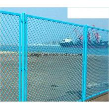 ПВХ покрытие оцинкованного расширенной металлическая проволока Сетка заборная