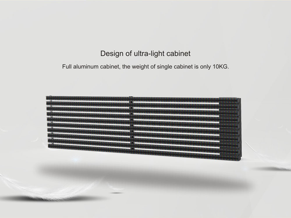 Outdoor led Grille Curtain lightweight made of aluminum material