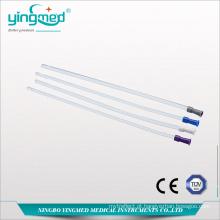 Tubo retal de PVC de uso único