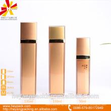 50/130 / 130ml AS розовая безвоздушная роскошная квадратная бутылка
