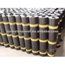 Matériau enroulé imperméable à l'eau bitumineuse modifiée par SBS