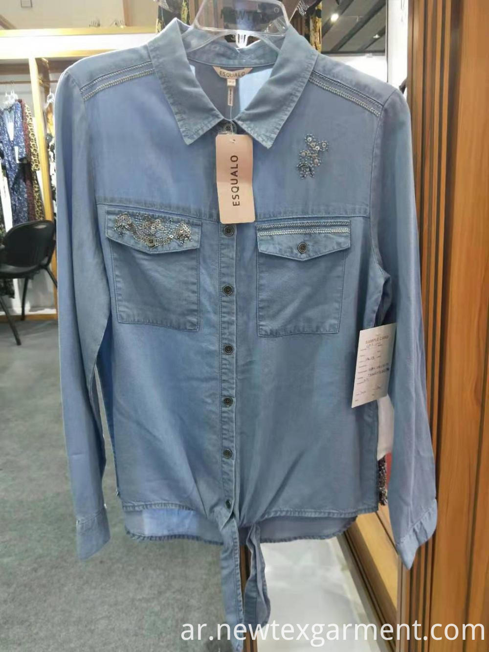 Blue Women Denim Shirts