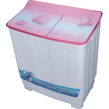Pink Glass Cover 9.5KG Twin Tub Mesin Cuci