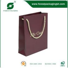 2015 nueva bolsa de papel personalizada de lujo