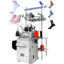 máquina que hace punto calcetín llano automático