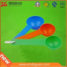 Manufactory polvo de nutrición colorido 3 en 1 cuchara de plástico