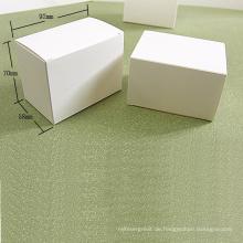 Weiße Kraftpapier-Faltkartenbox