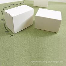 Caixa de cartão dobrável em papel Kraft branco