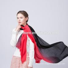 2017 women fashion winter wear red and black ramp shader pattren wool scarf