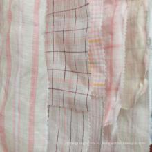 Свежий заказ moq 500м розовый желтый 100% лен прикольно в natrual пряжа покрашенная ткань для рубашки