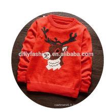 Mode bébé pull de noël tricoté enfants pull en cachemire