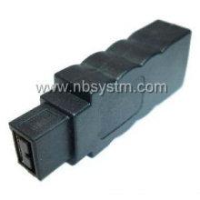 Nuevo diseño Firewire 1394 6P hembra a 9P adaptador macho