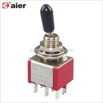 KNX-2-D1 6A 6MM 6 broches ON ON Interrupteur à bascule standard bidirectionnel DPDT