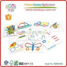Jouets pédagogiques éducatifs pour enfants Bâton artisanal en bois