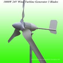 Lámparas de la nueva llegada 3 generador de viento clasificado 1000W 24V con 3 años de garantía y 15 años de tiempo de la vida