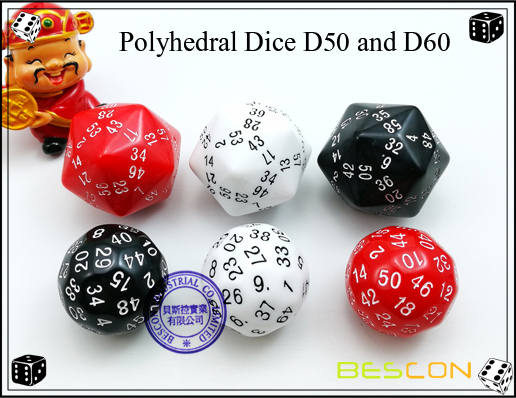 Polyhedral Dice D50 and D60