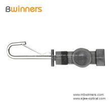 Tipo braçadeira aberta da tensão do cabo de fio da gota da fibra do gancho do tipo de Ftth S