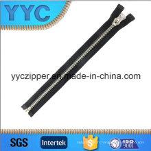 # 5 Metal Zipper en laiton blanc en plaqué couleur, fermé