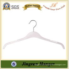Transparente weiße Metallhaken Plastikhemd Aufhänger