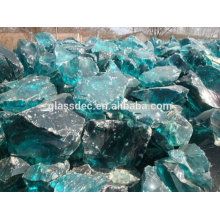 Escoria de roca de vidrio en gabion