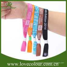 Factory wholesale custom events embroidered fabric wristband