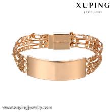 75027 Xuping mens gold bracelet designs wholesale Environmental Copper Alloy watch bracelet