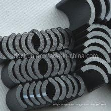 В форме дуги Спеченные магниты феррита используется для двигателя
