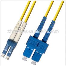 SC / UPC для LC / UPC одномодового патч-корда, оптическая цена патч-корда, дуплексный оптоволоконный патч-корд