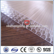 ISO/SGS approved high quality 10-year warranty Bayer Makrolon honeycomb polycarbonate sheet