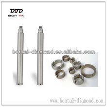 Small diameter bits with crown provide smooth cutting-diamond core bit