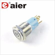 Daier LAS3-16F-11EP 16mm Power Mark LED Bouton-poussoir