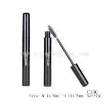 Envase del rimel delgado envase de maquillaje delgado 7 ml tubo del rimel vacía negro brillante
