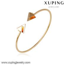 51643- Xuping arrow design cuff brazalete de aleación de cobre