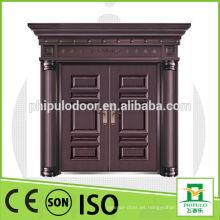 Puerta de metal de acero de doble hoja de alta calidad con gran tamaño.