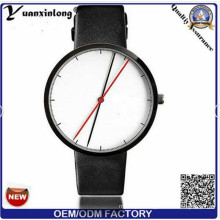 Yxl-389 Simple Design Sport Watch Japan Movt Genuine Leather Casual OEM Men Women Watches