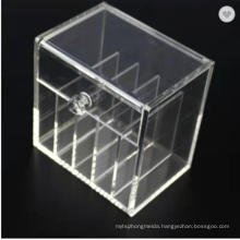 Makeup Organizer 5 Sections Plastic Lipstick Storage Case Clear Acrylic Desk Storage Box with Lid