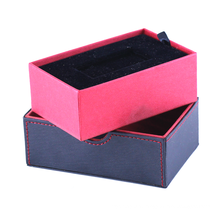 Wholesale Custom Fashion Style soap packaging box Luxury PU Faux Leather for Blue Gift Boxes With Lid