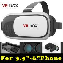 """Head Mount Plastic Vr Box 2.0 Versión Vr Gafas de realidad virtual Google Cardboard 3D Movie Game para 3.5 """"- 6.0"""""""