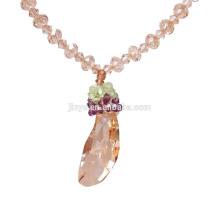 Mode einzigartige Bling Gold Kristall Anhänger Halskette für Party oder Show