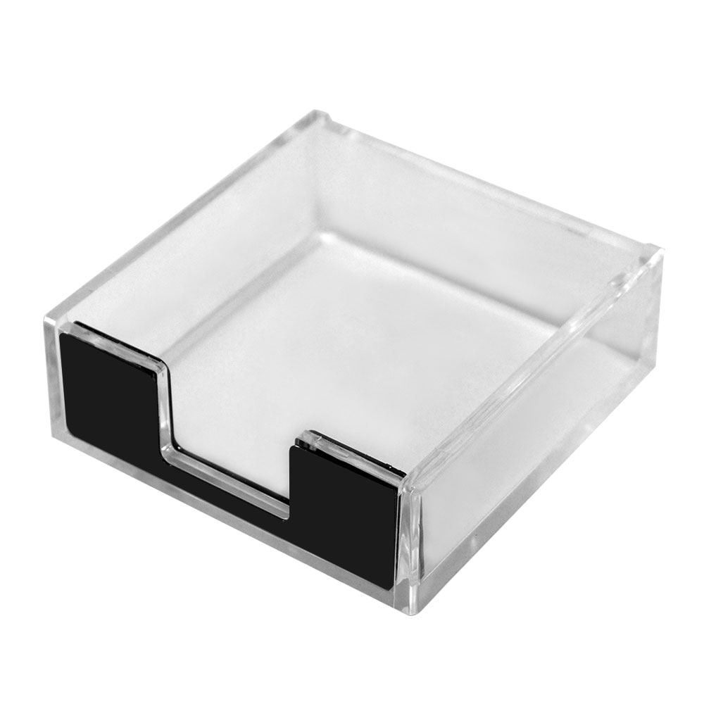 Acrylic Paper Clips Holder Clear And Black