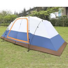 Two Bedroom Camping Rainproof 5-8 People Double Layer Big Tent